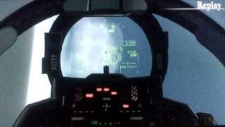 F-14 vs F-22 Dogfight (2006 Over G Fighters)