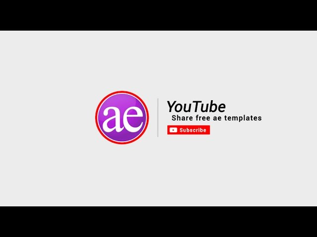 Subscribe To Share Free Ae Templates Youtube