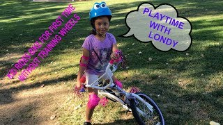 Kid Rides Bike For The First Time Without Training Wheels Family Fun Video