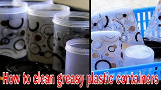 How to remove stains from plastic containers|Removing Odors from Plastic Containers.