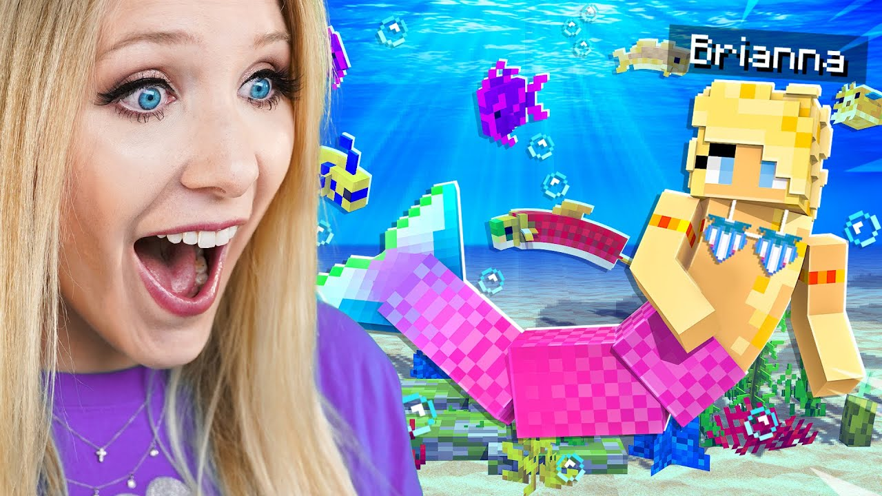 Download Playing Minecraft as a MERMAID!