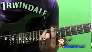 HOW TO PLAY I FEEL FINE BY THE BEATLES ON GUITAR VIDEO TUTORIAL