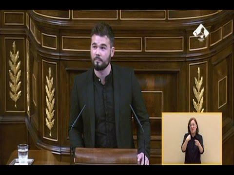 Rufián (ERC) humilla al PSOE en la sesión de investidura de Mariano Rajoy