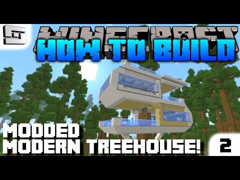 Minecraft : How To Build : MODERN TREEHOUSE 2