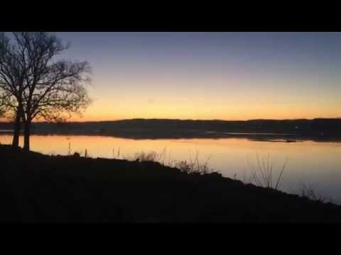 Dawn on the Mississippi River