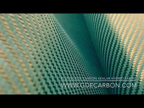 Carbon Kevlar Hybrid Fabric Cloth Roll  We supply different colors carbon kevlar fabric!