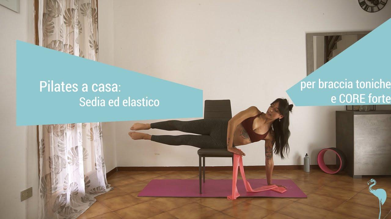 Pilates a casa: Sedia ed elastico per braccia toniche e ...