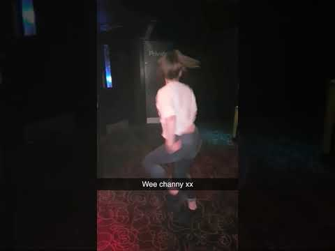Wee chantelle giving her moves in Savoy nightclub in Glasgow Scotland UK.