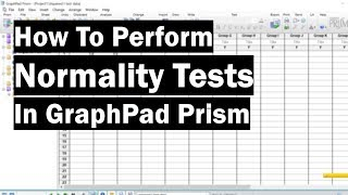 How To Perform Normality Tests In GraphPad Prism