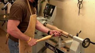 Building A Maloof Rocking Chair - Turning The Front Legs