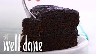 How to Make Dark Chocolate Avocado Cake | Recipe | Well Done