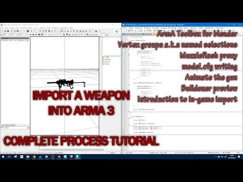 Import a weapon into ArmA 3 - Complete process tutorial