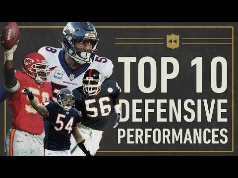 The Top 10 Greatest Single-Game Defensive Performances in NFL History | Vault Stories