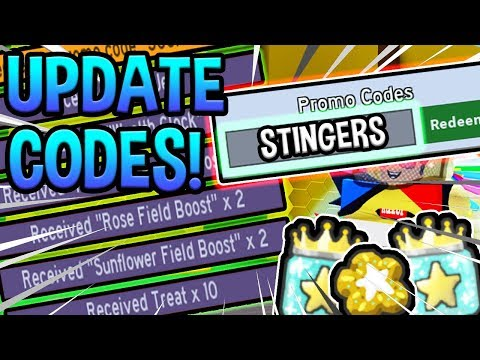 ALL 6 NEW CODES FOR BEE SWARM SIMULATOR Stump Snail Update Roblox