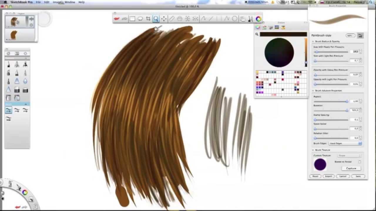 Туториалы по рисованию волос