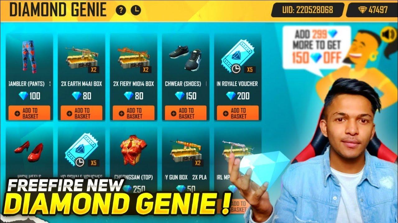 New Diamond Genie Event I Got All Rare Items In 99 Diamonds At Garena Free Fire 2020
