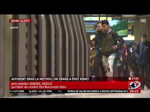Accident grav la metrou. Un tanar a fost rănit