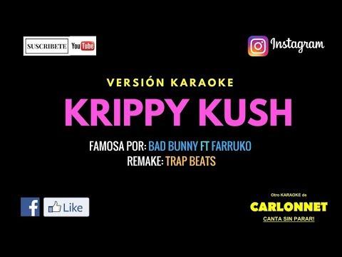 Krippy Kush - Bad Bunny ft Farruko (Karaoke)