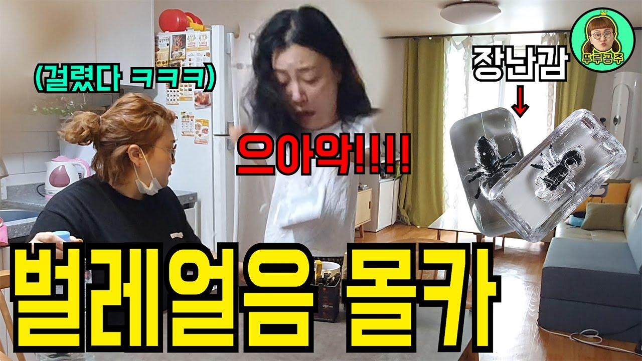 [몰카]벌레가 들어있는 얼음을 본 미녀개그우먼의 반응은??ㅋㅋㅋ자지러짐 (ft.바그냥)