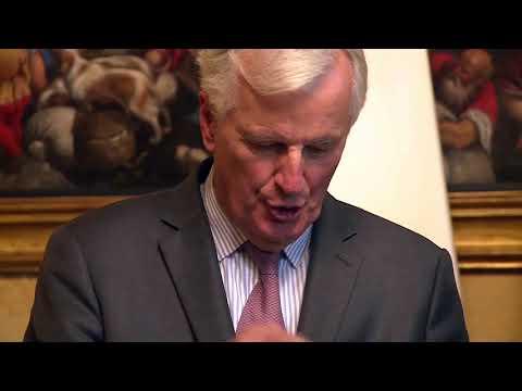 Gentiloni riceve il capo negoziatore Ue per la Brexit Michel Barnier