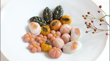 꽃송편과 수정과, 월병 만들기 🌸 l  Flower Rice cake , Cinnamon Punch  & Mooncake 🐿