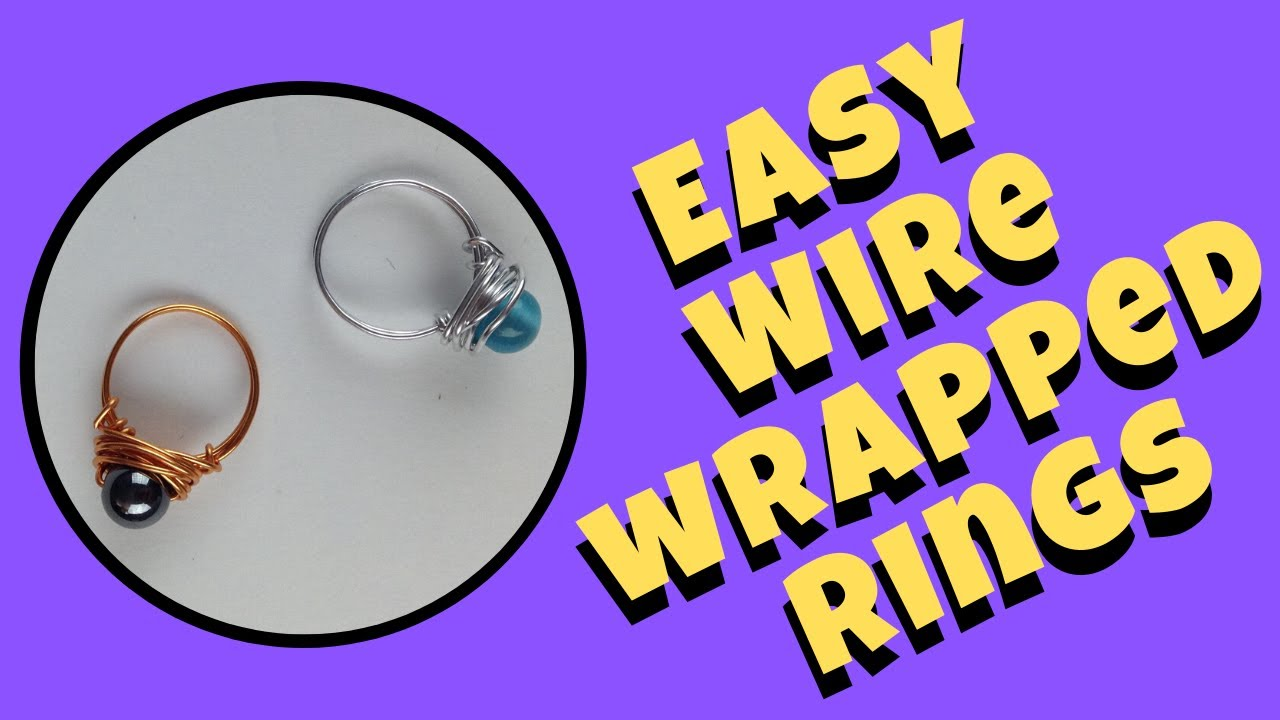 Make Simple Wire Rings DIY Jewelry Making Tutorial - YouTube
