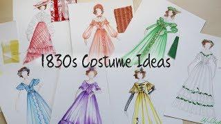 1830s Historic Costume Design Ideas