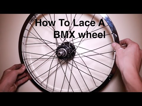 Lacing a Rear 32 Spoke Wheel, 3 Cross