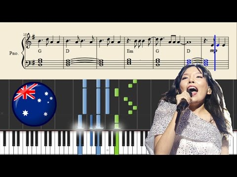 Dami Im - Sound Of Silence (Australia) | Piano Tutorial + Chords