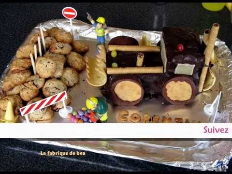 Anniversaire Gar On Gateau Tractopelle Youtube