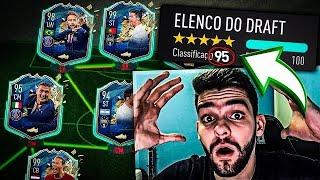 CONSEGUI O MELHOR FUT DRAFT DA MINHA VIDA!!! CR7 99 + RECORDE MUNDIAL!! FIFA 20