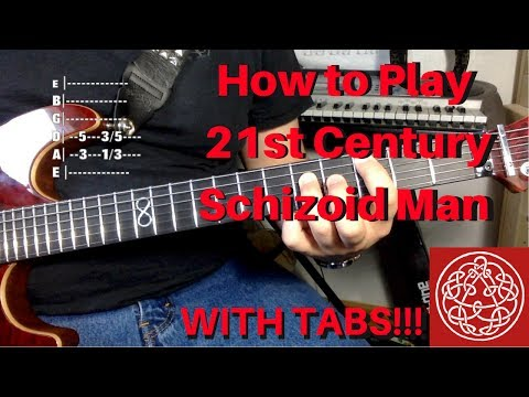 How to Play 21st Century Schizoid Man on Guitar (w/ TABS!)