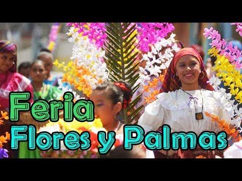 Feria cultural de flores y palmas Panchimalco San Salvador procesión  parte 2 YS SVL