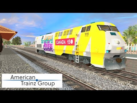 Trainz A New Era [ American Trainz Group Add-On ] - VIA Rail P42 #916 150th Special (FreeWare)