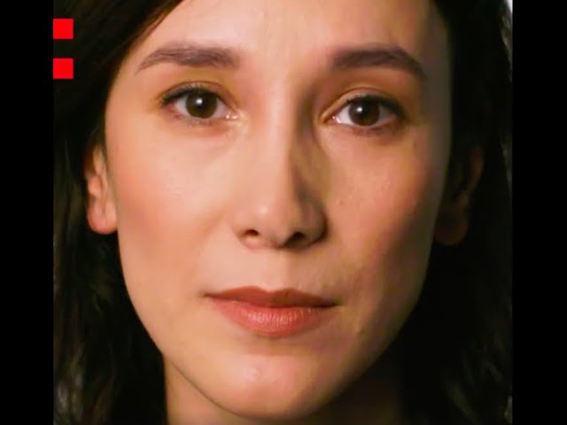 Frame of a video of Sibel Kekilli speaking about the Odyssey project