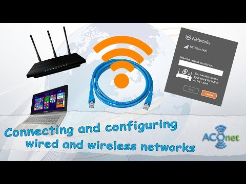 Connect and configure wired and wireless networks (basic level)