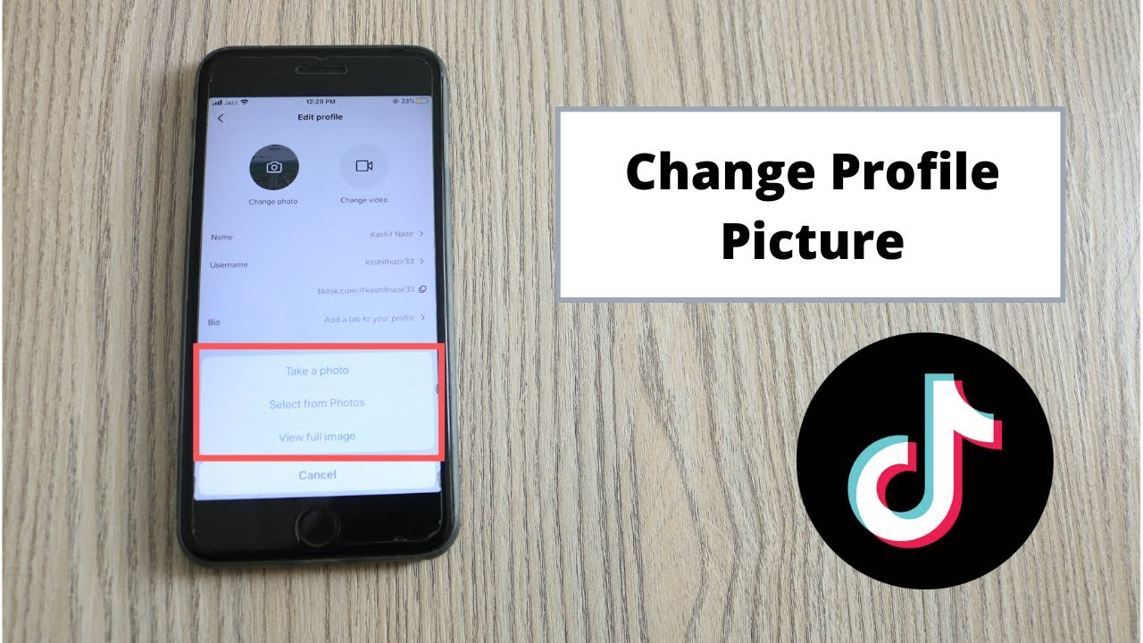 How To Change Profile Picture On Tiktok Iphone Ipad 2020 Youtube