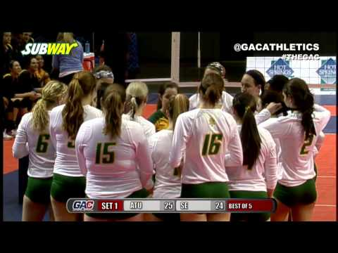 2015 GAC Volleyball Championships - Arkansas Tech vs Southeastern Oklahoma State