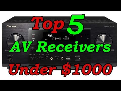 Best AV Receiver Under 1000 Dollars | Top 5 AV Receivers For 2017 - 2018