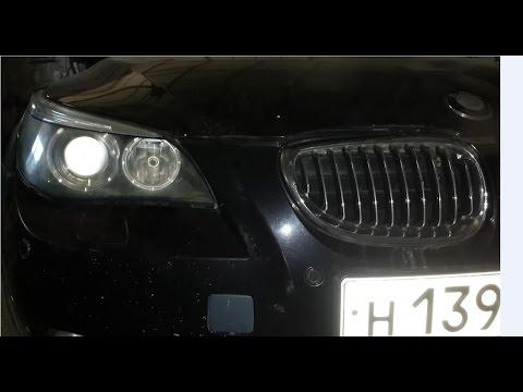 Как снять, подтянуть бампер на BMW e60