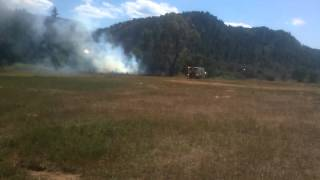 Eagle colorado small bush fire