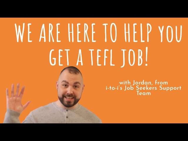 How to get a TEFL job   i-to-i are here to help
