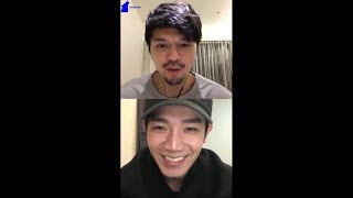 25022018 Steven Chiang & Hunt Chang Instagram Live (HIStory 2 : Right or Wrong actors)