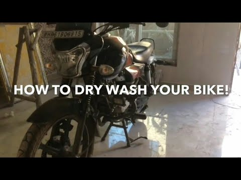 HOW TO DRY WASH YOUR BIKE |simple&easy|