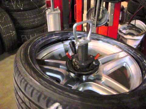 Touchless Tire Mounting Dont Scratch Your Wheels Youtube