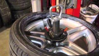 Touchless Tire Mounting - dont scratch your wheels