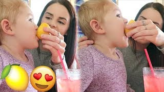 TODDLER IS OBSESSED WITH LEMON!