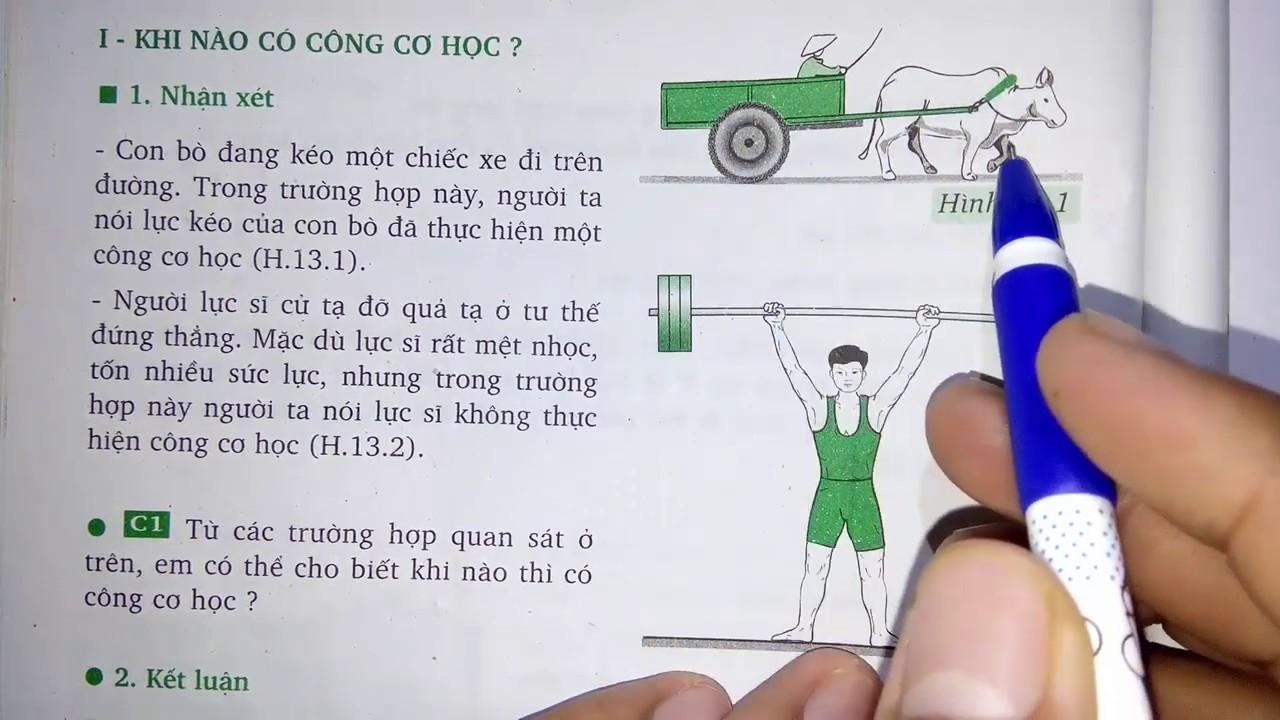 Vật lý lớp 8 – Bài 13 – Công cơ học