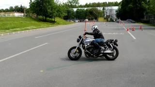 Тренируем максимальный наклон мотоцикла. Часть 1