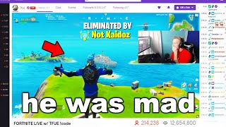 I Stream Sniped Tfue until he DELETED Fortnite...